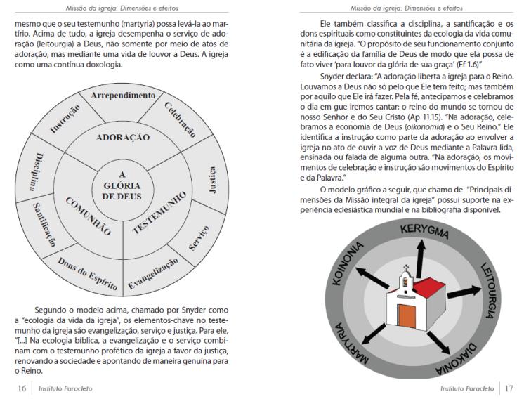 Principais dimensões da Missão