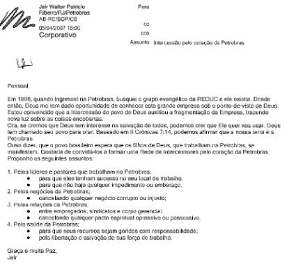 Intercessão pela Petrobras