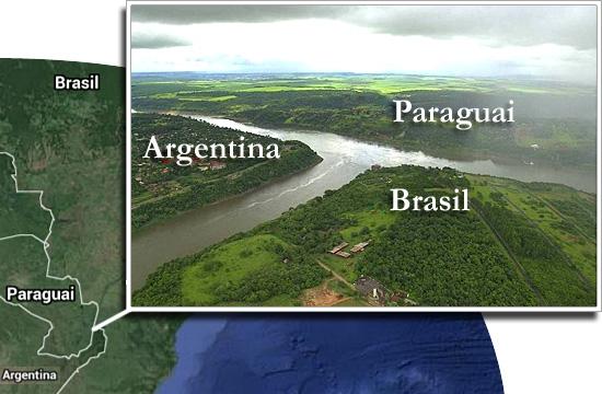 Fronteiras pelo mundo-Brasil Argentina e Paraguai