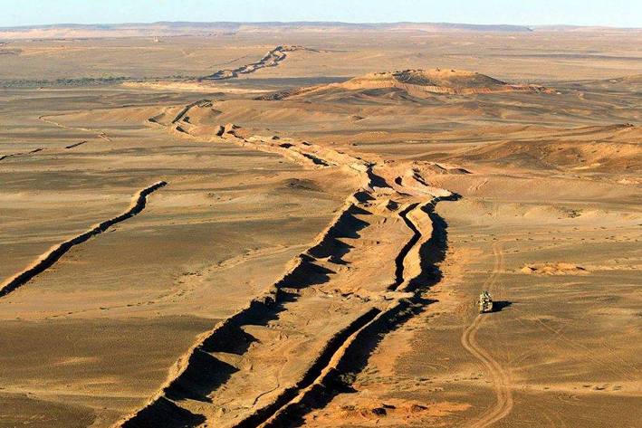Resultado de imagem para fronteira marrocos República Árabe Saharaui Democrática
