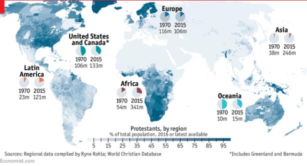 Protestantes por região