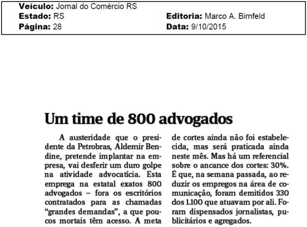 Comunicação e Advogados Petrobras